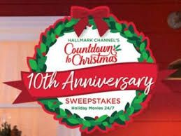 Hallmark Channel Countdown to Christmas 10th Anniversary Sweepstakes
