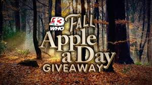 Who TV Channel 13 Fall Apple A Day Giveaway