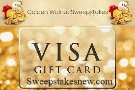 Golden Walnut Sweepstakes