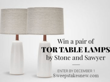 Win a Pair of Tor Table Lamps by Stone and Sawyer
