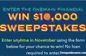 One Main Winter Rewards Sweepstakes