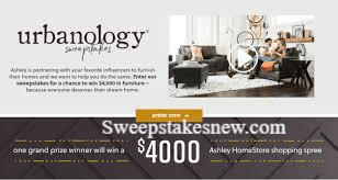Ashley HomeStore Urbanology Home Makeover Sweepstakes