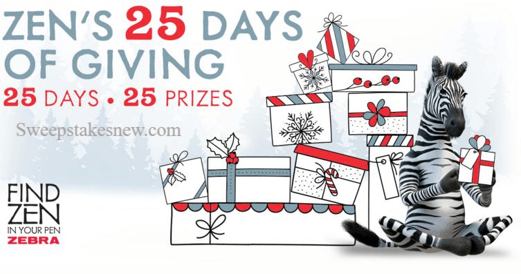Zens 25 Days Of Giving Sweepstakes