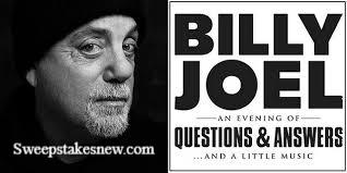 Siriusxm Billy Joel Sweepstakes