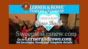 Lerner and Rowes Turkey Giveaways