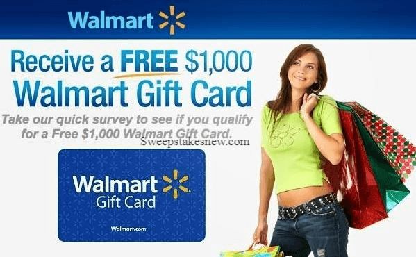 Walmart Survey November-January Sweepstakes