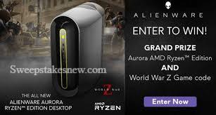 Alienware Aurora & World War Z Sweepstakes