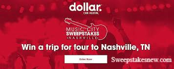 Dollar Car Rental Music City Sweepstakes