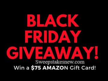 Win a $75 Gift Card for Black Friday