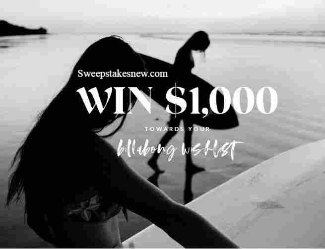 Billabong Win Your Wishlist Sweepstakes