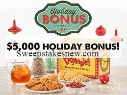 Bojangles Holiday Bonus Contest