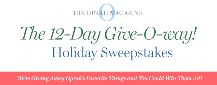 Oprah 12 Days of Christmas 2019