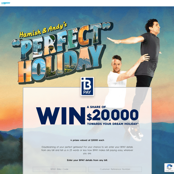 Hamish and Andy Perfect Holiday Bpay Competition