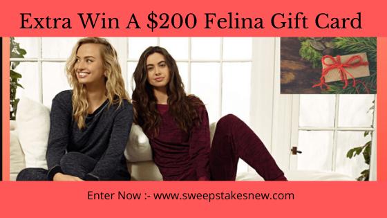 Extra Win A $200 Felina Gift Card