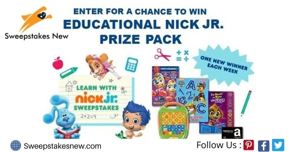 Nick Jr. Monthly Sweepstakes on NickJrSweepstakes