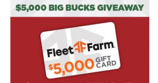 Fleet Farm $5000 Big Bucks Giveaway