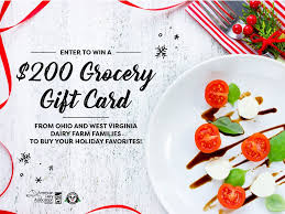 Mideast Dairy Farms $200 Grocery Gift Card Sweepstakes