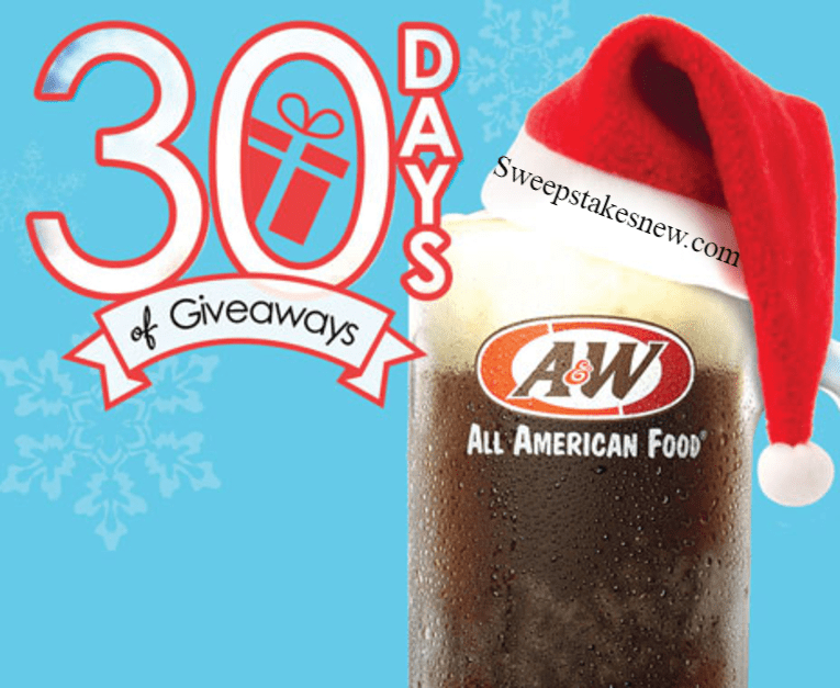 A&W 30 Days Of Giveaways Sweepstakes
