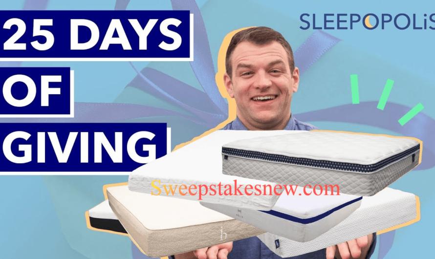 Sleepopolis 25 Days Of Giving Sweepstakes