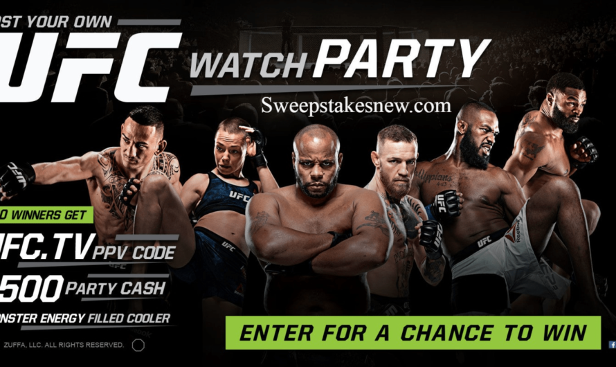 Monster Energy Chance to Win a UFC Watch Party Sweepstakes
