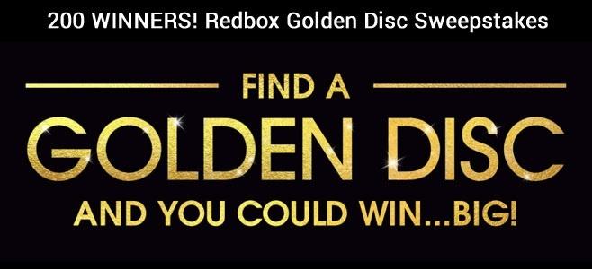 Redbox Golden Disc Sweepstakes