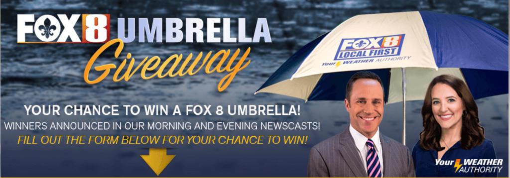 Fox 8 Live Umbrella Giveaway
