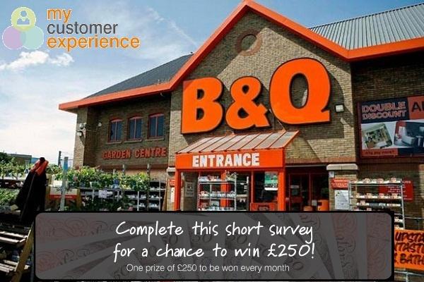 B&Q Customer Feedback Survey