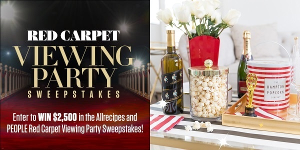 Allrecipes Red Carpet Viewing Party Sweepstakes