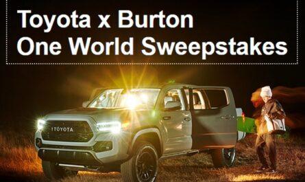 The Toyota X Burton Sweepstakes