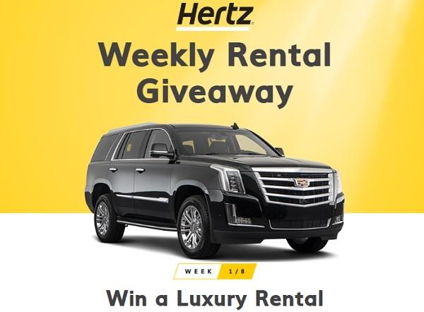 Hertz Weekly Rental Giveaway