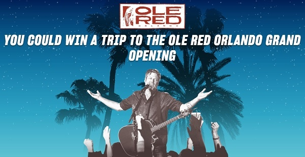 Ole Red Orlando Opening Sweepstakes