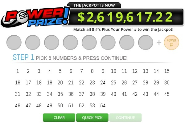 PCH.com Lotto Power Prize Sweepstakes Giveaway