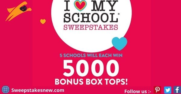 Box Tops For Education I Love My School Sweepstakes