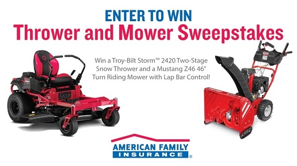 American Family Insurance Thrower and Mower Sweepstakes