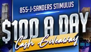 J. Sanders $100 A Day Stimulus Giveaway