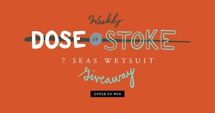 VISSLA's Weekly Dose Of Stoke 7 Seas Wetsuit Giveaway