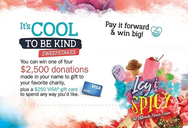 Sodexo It's Cool To Be Kind Sweepstakes