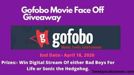 Gofobo Movie Face Off Giveaway