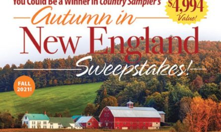 Country Sampler Autumn In New England Sweepstakes
