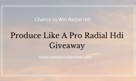 Produce Like A Pro Radial Hdi Giveaway