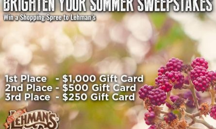 Lehman's Brighter Summer Sweepstakes