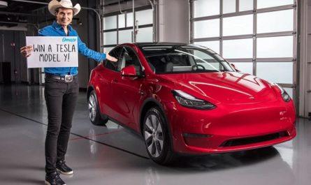 Omaze Tesla Model Y Sweepstakes