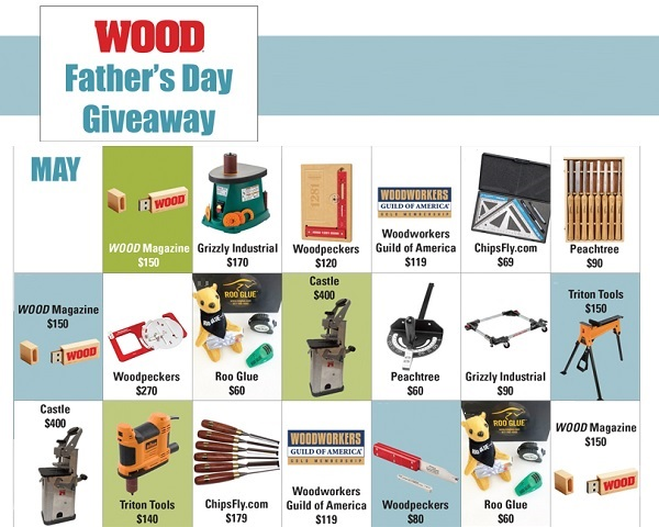 Wood Magazine Father's Day Giveaway