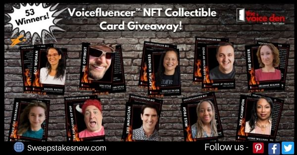VoiceInfluencer NFT Collectible Card Giveaway