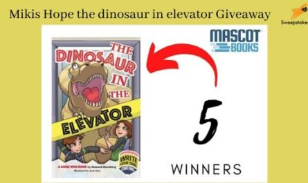 Mikis Hope the dinosaur in elevator Giveaway
