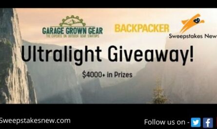 Garage Grown Gear Ultralight Backpacking Giveaway