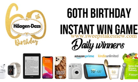 Haagen-Dazs 60th Birthday Instant Win Game