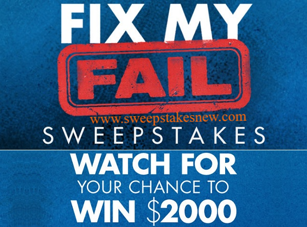 Hgtv Fix My Fail Sweepstakes