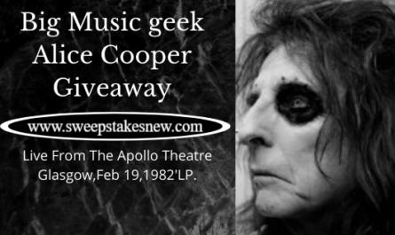 Big Music geek Alice Cooper Giveaway