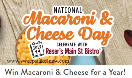 Main St Bistro Macaroni and Cheese for A Year Sweepstakes